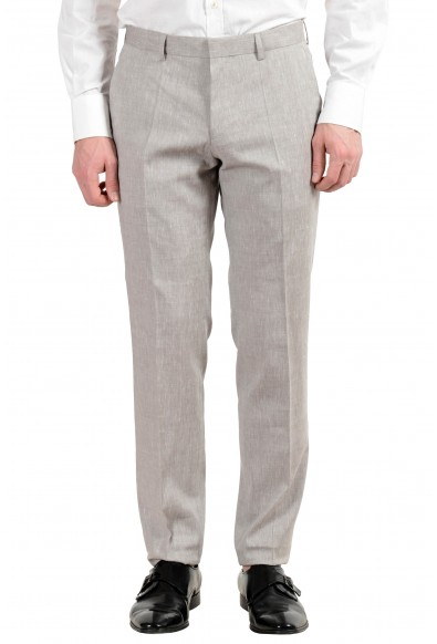 "Hugo Boss ""Hutson5/Gander3"" Men's Linen Wool Gray Slim Two Button Suit: Picture 2"
