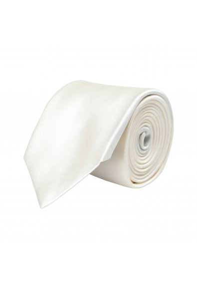 Hugo Boss Men's Solid Off White 100% Silk Tie