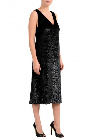 "Hugo Boss ""Didani"" Women's Black Velour Sleeveless Sheath Dress : Picture 2"