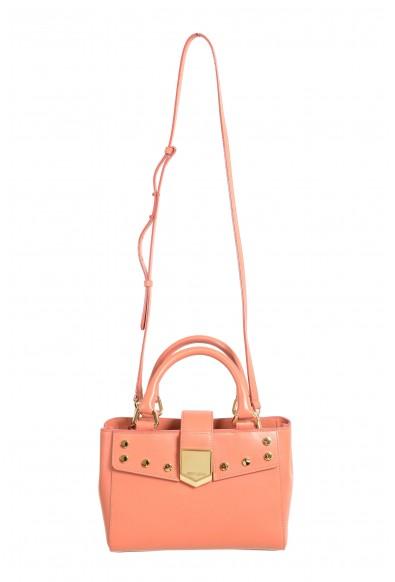 "Jimmy Choo Women's Powder Pink Leather ""Lockett"" Shoulder Crossbody Bag"