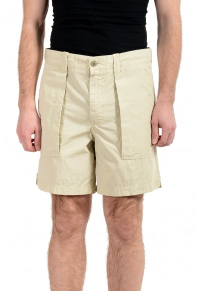 "Hugo Boss ""Selian-Shorts"" Men's Beige Relaxed Fit Casual Shorts"