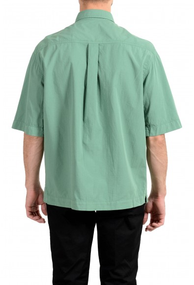 """Hugo Boss """"Leisure"""" Men's Relaxed Fit Green Short Sleeve Casual Shirt: Picture 2"""
