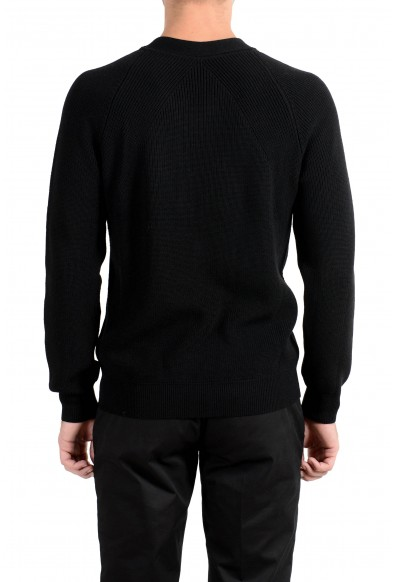 Versace Collection Men's 100% Wool Black V-Neck Sweater: Picture 2