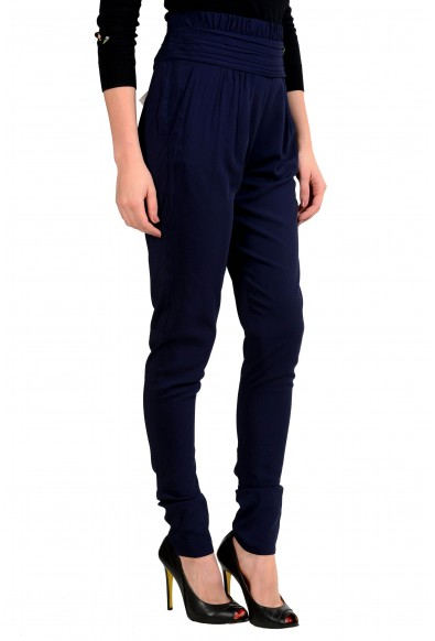 Viktor & Rolf Women's Dark Blue Pleated Casual Pants: Picture 2