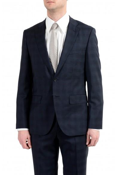 "Hugo Boss ""Johnstons2/Lenon"" Men's 100% Wool Blue Plaid Two Button Suit: Picture 2"