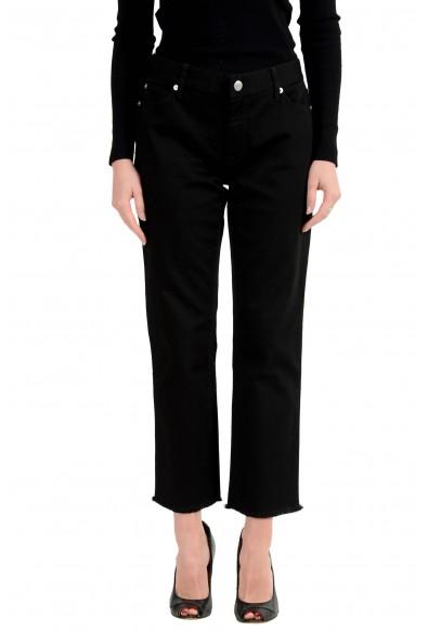 Burberry London Women's Black Slim Stretch Cropped Jeans