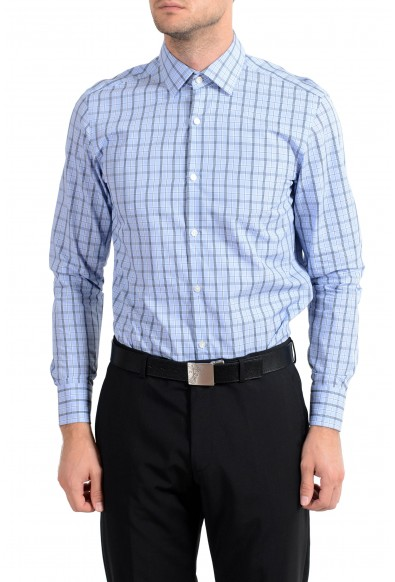 "Hugo Boss ""Marley US"" Men's Plaid Sharp Fit Long Sleeve Dress Shirt"