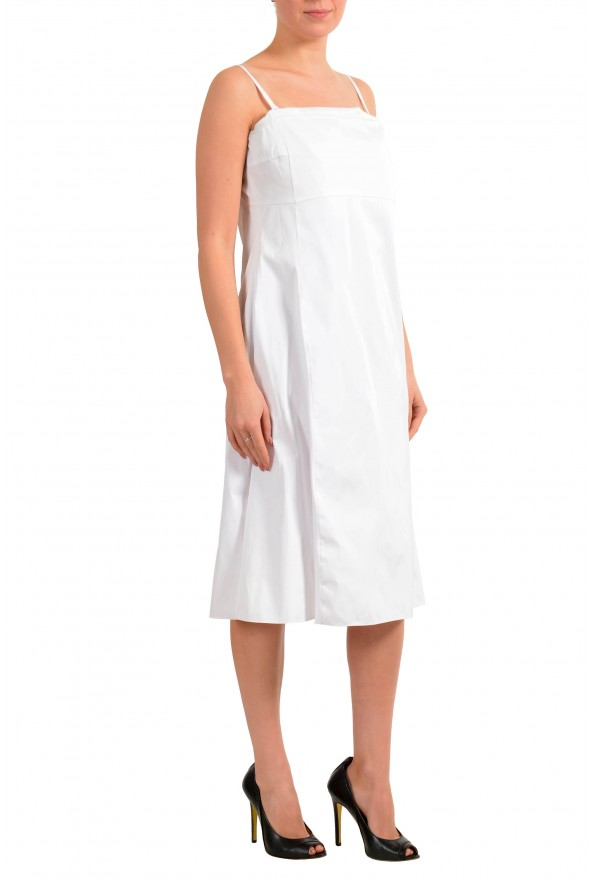 """Hugo Boss Women's """"Dewhy_WE"""" White Sleeveless Fit&Flare Dress: Picture 2"""