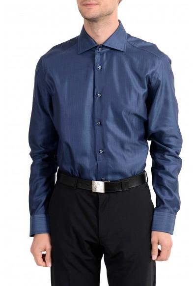 "Hugo Boss ""T-Stenson"" Men's Regular Fit Dark Blue Long Sleeve Dress Shirt"