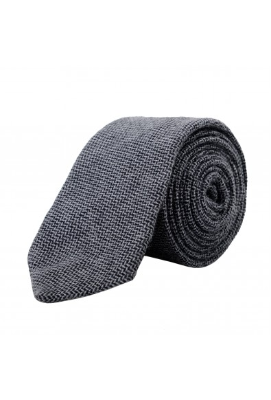 Gianfranco Ferre Men's Gray Geometric Print 100% Wool Neck Tie