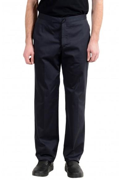 Exte Men's Dark Blue Stretch Casual Pants