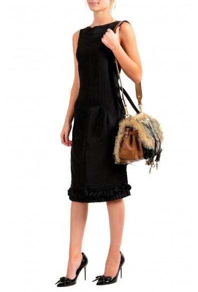 Prada Women's 1BD080 Fur Leather Shoulder Handbag Bag: Picture 2