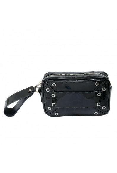 Versace Versus Women's Gray Patent Leather Wrist Bag Clutch