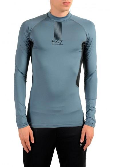 """Emporio Armani EA7 """"Tech M"""" Men's Gray High Neck Long Sleeve T-Shirt"""