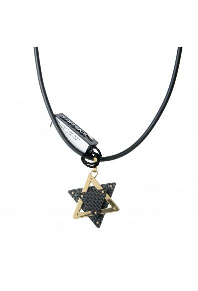 BARAKA Men's ST291121GICO000000 Yellow Gold Carbon Fiber Star Of David Pendant: Picture 2