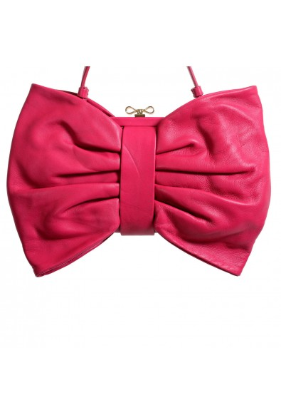 Red Valentino Women's Purplish Pink 100% Leather Bow Handbag Shoulder Bag: Picture 2