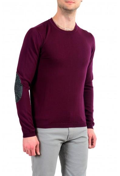 Just Cavalli Men's 100% Wool Burgundy Crewneck Sweater: Picture 2