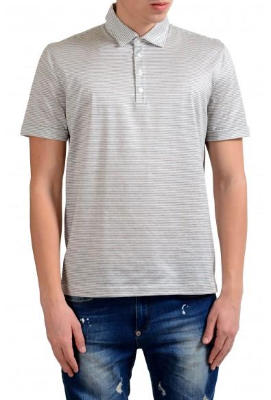 Malo Men's Striped Short Sleeve Polo Shirt