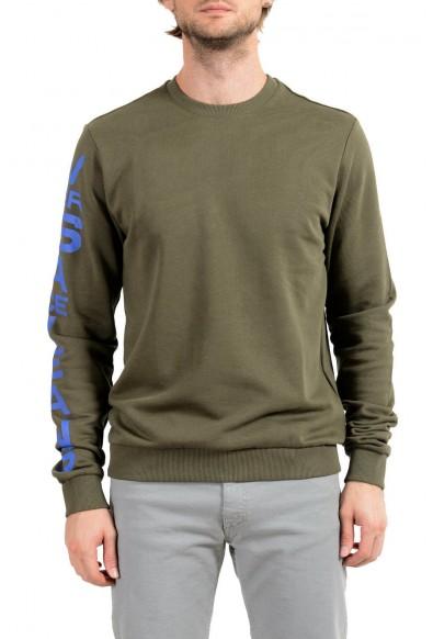 Versace Jeans Men's Green Logo Sweatshirt