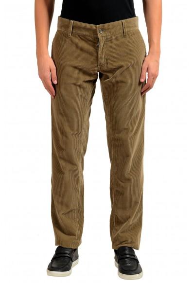 Dolce & Gabbana Men's Brown Corduroy Casual Pants
