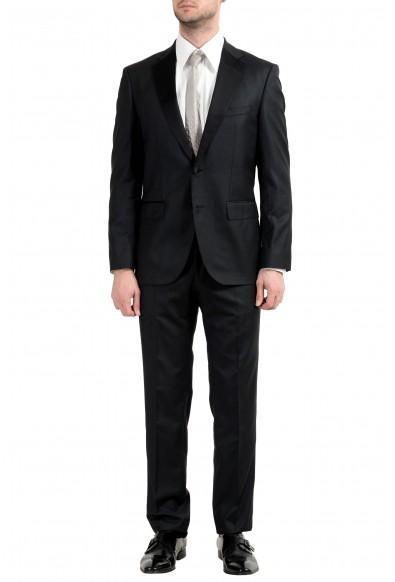 "Hugo Boss ""Jelvan/Livan"" Men's Silk Wool Black Two Button Suit"