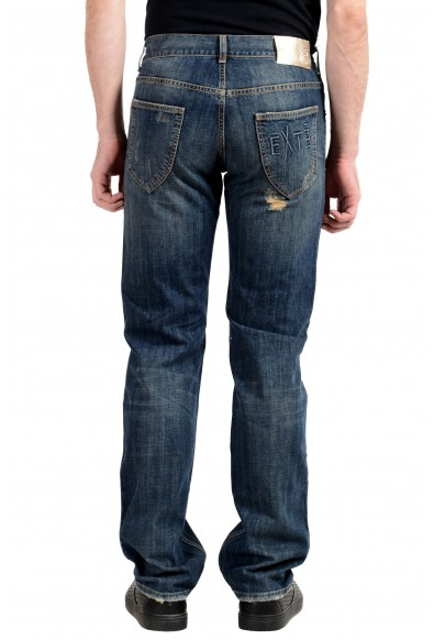 Exte Men's Blue Ripped Straight Leg Jeans : Picture 2