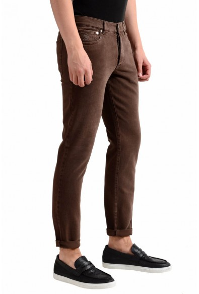 Brunello Cucinelli Men's Brown Slim Fit Jeans: Picture 2