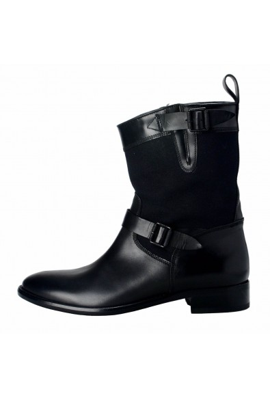 Belstaff Bedford Women's Black Motorcycle Ankle Boots Shoes : Picture 2