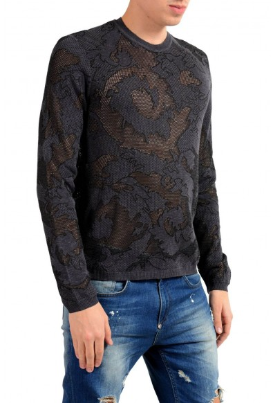 Versace Collection Men's See Through Crewneck Light Sweater: Picture 2