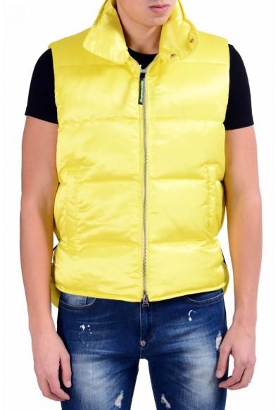 Dsquared2 Men's Bright Yellow Full Zip Down Vest