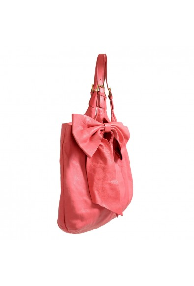Red Valentino Women's Pink 100% Leather Bow Decorated Large Tote Shoulder Bag: Picture 2