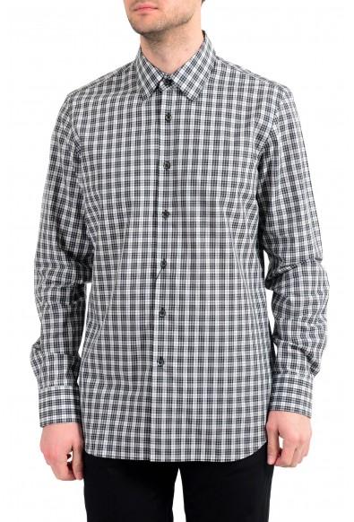 Prada Men's Plaid Long Sleeve Button Down Dress Shirt