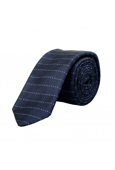 Hugo Boss Men's 100% Silk Striped Logo Print Tie