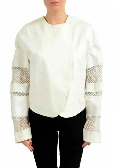 Just Cavalli White Double Breasted Women's Basic Jacket
