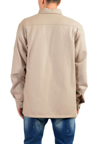 Malo Men's 100% Wool Beige Button Up Jacket: Picture 2