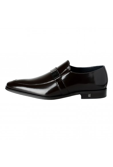 Versace Collection Men's Brown Polished Leather Loafers Shoes: Picture 2