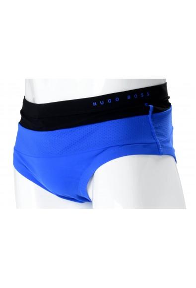 "Hugo Boss ""Rosefish"" Men's Blue & Black Stretch Swim Briefs: Picture 2"