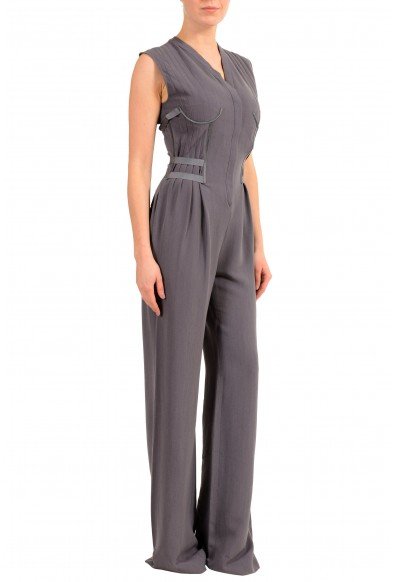 Maison Margiela 1 Women's Wool Purple Sleeveless Straight Leg Jumpsuit: Picture 2