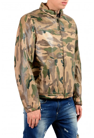 Valentino Men's 100% Leather Camouflage Full Zip Jacket: Picture 2