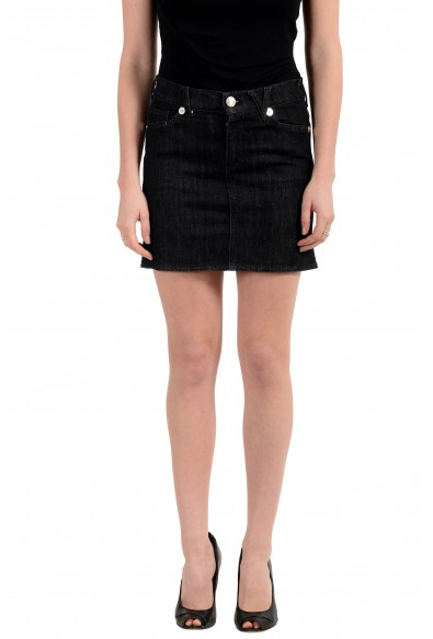 Versace Jeans Couture Women's Black Mini Denim Skirt