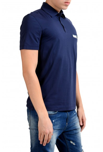 Malo Men's Navy Blue Stretch Short Sleeve Polo Shirt : Picture 2