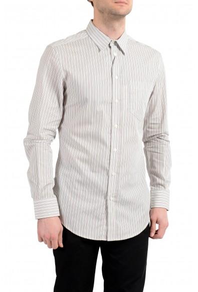 """Dolce&Gabbana D&G """"Regular"""" Men's Striped Long Sleeve Casual Shirt"""