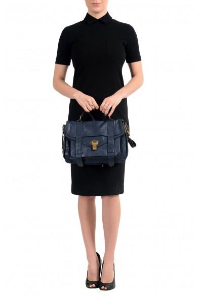 Proenza Schouler Women's Midnight Blue Leather Handbag Satchel Shoulder Bag: Picture 2
