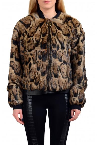 Just Cavalli 100% Rabbit Hair Full Zip Women's Basic Jacket : Picture 2