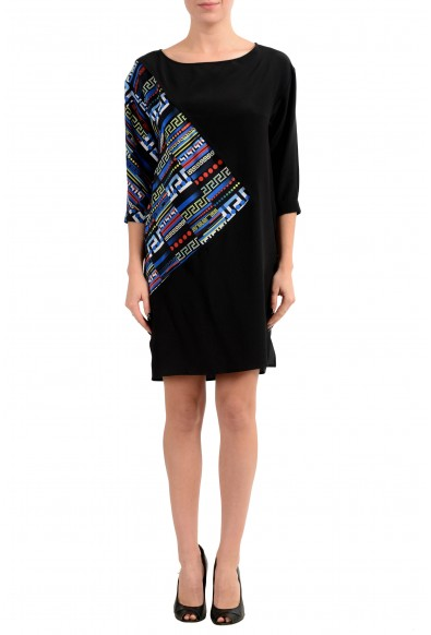 Versace Women's 100% Silk Multi-Color 3/4 Sleeve Tunic Dress