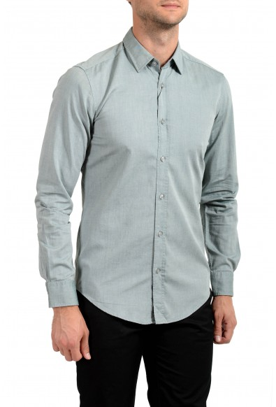"Hugo Boss Men's ""Ronni_2"" Slim Fit Gray Long Sleeve Casual Shirt"