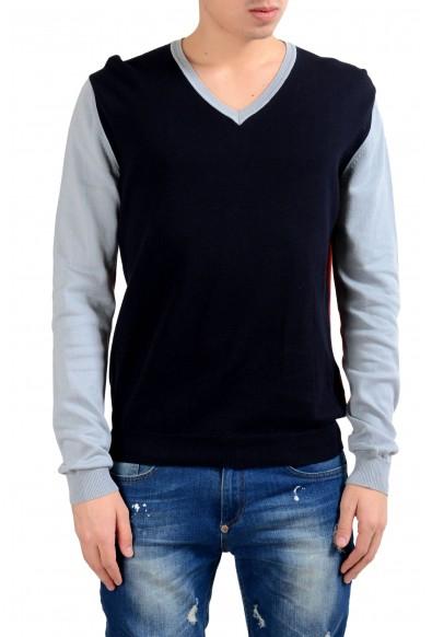 Malo Men's Multi-Color V-Neck Pullover Sweater