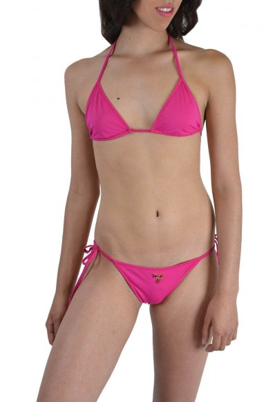 DSQUARED2   Women's Fuchsia Metal Detail Decorated Two Piece Bikini Swimsuit US L EU 44