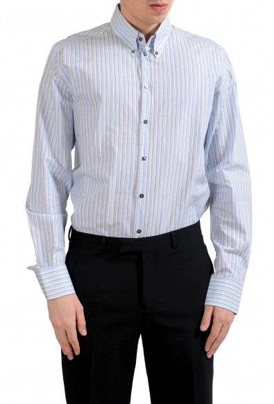 "Dolce & Gabbana ""Martini"" Men's Striped Long Sleeve Dress Shirt"