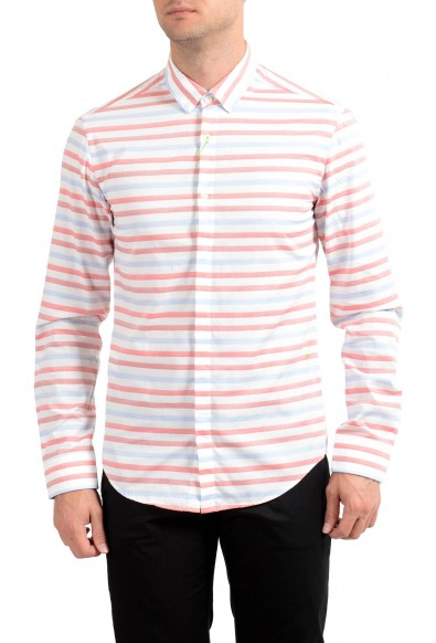 "Hugo Boss Men's ""Belfiore"" Slim Fit Striped Long Sleeve Casual Shirt"